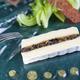 Fromage « l'Ortolan 1921 » farci aux poires  et trompettes fraîches, salade frisée et séché de Morteau