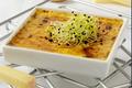 Crème brûlée au Gruyère AOC français, pousses d'ô