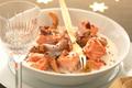 Blanquette de saumon écossais Label Rouge  aux girolles, marrons et graines de moutarde