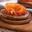 Truite fumée Label Rouge sur blinis de sarrasin, chantilly de betteraves