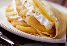 Crêpe au camembert et pommes Ariane fondantes