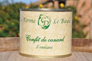 Confit de canard (5 cuisses) - Ferme le Bayle