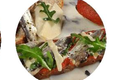 Tartine De Sardines Au Basilic, Puree De Tomates Et Pistou