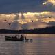 peche sur le lac léman