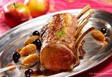 Carré de veau au chutney de pommes Antarès