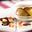 Macaron caramel, pommes Antarès rôties à la cannelle