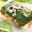 Tartelettes de Fourme d'Ambert au brocoli et caramel de pommes