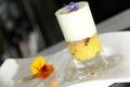 Fondue de raïolette au safran, foie gras poêlé et écume de pomme de terre