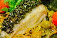 Filet de cabillaud et sa tapenade d'olive (recette sans gluten)