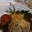 Le croustillants de biche rôti au miel de châtaigne et champignons noirs.
