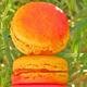 macaron abricot à l'amande amère