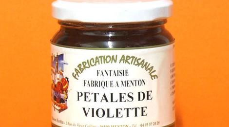 confit de pétales de violette