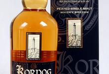 KORNOG Whisky Breton Single Malt Tourbé vieilli en fût de Bourbon. Embouteillage officiel  (70cl).