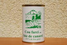 Cou de canard farci au foie gras - Ferme de la Mude