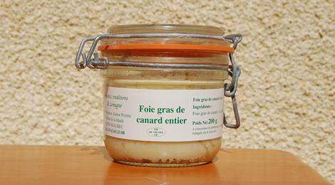 foie gras de canard entier 200g - Ferme de la Mude