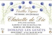 CLAIRETTE DE DIE Tradition Cuvée Vieilles Vignes