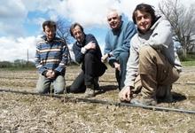 Les 4 associés de TERRADOC (de gauche à droite : Cyril, Thierry, Dominique et Thibaut)