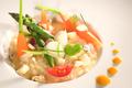 Millefeuille basilic Chavignol et fraises