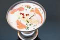 Le velouté glacé d'asperges au saumon fumé