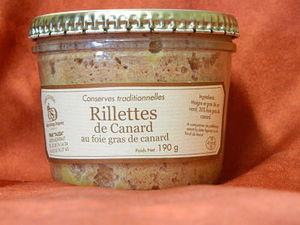 Rillettes de canard au foie gras de canard