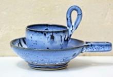 Tasse à brulot charentais bleues avec palet