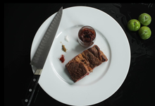Basse côte de boeuf, sauce barbecue à la prune