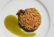 Crumble de prunes au foie gras