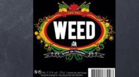 Bière Artisanale WEED blonde au chanvre