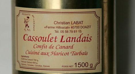 Cassoulet Landais aux Haricots Tarbais