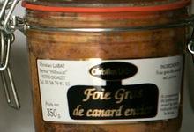 Foie Gras de canard entier 350 grs - bocal