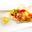 Plancha de Saint Jacques, réduction d'orange au romarin et  spaghettis verts