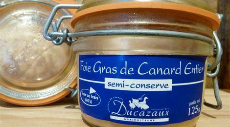 Foie gras de canard entier mi cuit 125 grs