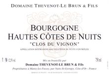 Vin rouge Bourgogne - Hautes Cotes de Nuits 2010 - Clos du Vignon