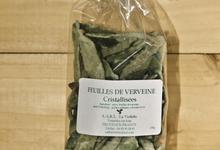 Véritables feuilles de verveine cristallisées