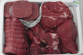 Caissettes de viande de bœuf