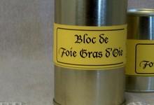 Bloc de foie gras d'oie 200 grs