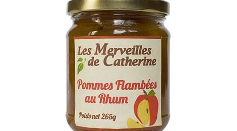 Confiture de pommes flambées au rhum