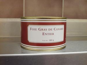 Foie gras de canart entier 380 grs