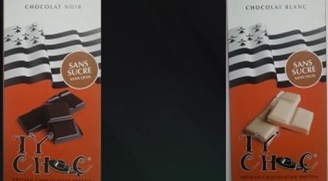 Tablette de chocolat SANS SUCRES  NOIR