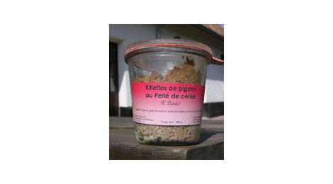 Les rillettes de pigeon au perlé de cerise (180g)