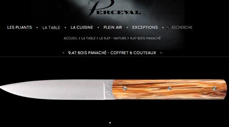9.47 Bois panaché - coffret 6 couteaux