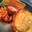 Tarte aux deux pommes et orange, crumble de châtaignes