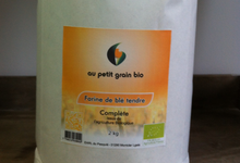 Farine de blé bio, farine complète
