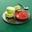 Tartare de fraises et macarons pistache