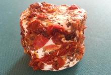 Crottin frais tomate basilic