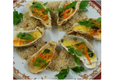 Huîtres Chaudes en feuilles vertes et Beurre iodé