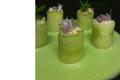 Maki de concombres et araignée de mer, soupe glacée de concombre à la menthe