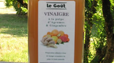 Vinaigre à la pulpe d'Agrumes Gingembre