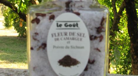 Fleur de sel de Camargue et poivre du Sichuan