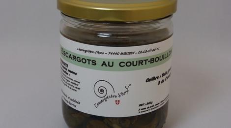 Escargots court bouillonnés